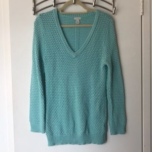 Royal Bright Blue Hinge Knit Sweater Size Small